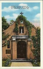 OLD VINTAGE SHRINE OF NUESTRA SENORA DE LA LECHE FLORIDA LINEN POSTCARD