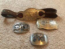Lot of Vintage Men's Vintage Buckles - Alpaca, Mexico. Eagles, More silver