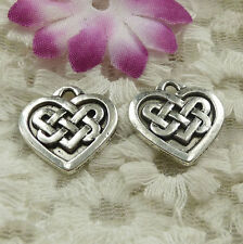 Free Ship 45 pieces Antique silver heart charms 18x18mm #4579