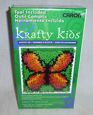 CARON - KRAFTY KIDS - BUTTERFLY CUSHION LATCH HOOK KIT - NEW  (G1744)