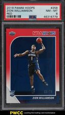 2019 Hoops Red Zion Williamson ROOKIE RC /75 #258 PSA 8 NM-MT