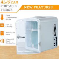 4 Liter/6 Can AC/DC 12V Portable Mini Fridge Car Cooler Warmer Skincare Travel