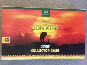 WOOLWORTHS DISNEY THE LION KING OOSHIES COLLECTOR CASE COMPLETE