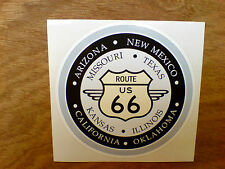 Route 66 & États Voiture Rétro Hot Rod Autocollant Sticker camping-car - 100mm Dia
