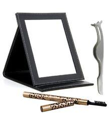 Reise - Make up SET- Spiegel mit Augenbraunkorrektur + Wimpernpinzette.
