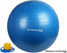 Strauss Anti Burst Gym Ball with Foot Pump (75 cms)