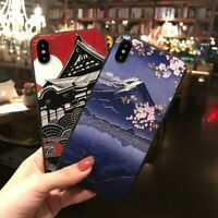 Japanese Mountain Landscape Soft Phone Case for iPhone 11 12 Pro Max X XR XS 7 8