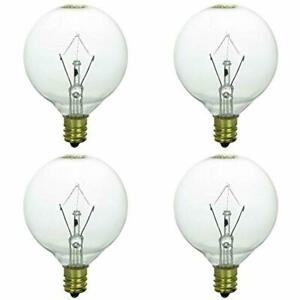 Warmer Replacement Light Bulb Candle Wax Fragrance Diffuser Dimmable 25 Watt 4pc