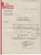 8849) AUTOGRAFO DI GUIDO DE PRETORE, FOTOGRAFO, SU FATTURA DEL 9 MAGGIO 1942.