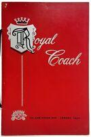 1950's Vintage Full Size Menu ROYAL COACH RESTAURANT Lompoc California