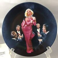 Marilyn Monroe Collector Plate Diamonds Are A Girls Best Friend COA 1990