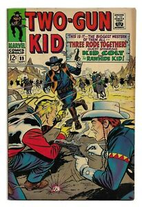 TWO-GUN KID #89 SILVER AGE MARVEL COMIC BOOK Western 1967 Kid Colt Rawhide Kid