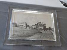 Framed Postcard: NPRR Depot & Mt Helena, Montana Territory 1885
