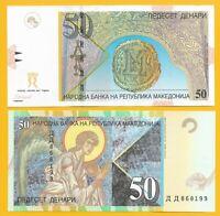Macedonia 50 Denari p-15e 2007 UNC Banknote