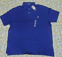 Big & Tall New Mens Polo Ralph Lauren Solid Polo Shirt Blue/ Navy 2XB & 2XLT