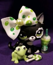 Authentic Littlest Pet Shop #2249 Blythe Shorthair Black White Flower Eye Lps