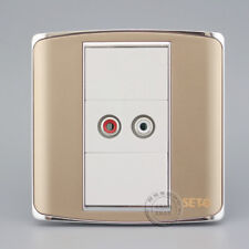 Wall Face Plate AV Audio Video Champagne Color Outlet Socket Assorted Faceplate