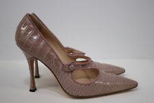 Manolo Blahnik Mary Jane Pink Mauve High Heel Pumps 38.5 8.5