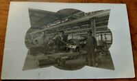 *RARE* 1912 RPPC VINTAGE INTERIOR VIEW OF AUTOMOBILE FACTORY, DETROIT, MICHIGAN