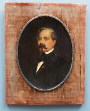 19th Century Miniature ORIGINAL OIL PAINTING Portrait Of A French Gentleman