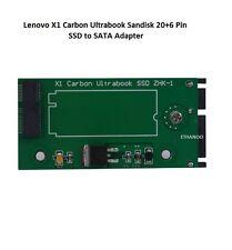 IBM Lenovo X1 CARBON Ultrabook SSD ZHK-1 SANDISK 20+6 Pin Adattatore mSATA a SATA
