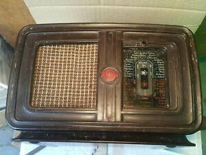 VINTAGE GRAETZ 220V TUBE RADIO BAKELITE DEVICE ART DECO 1950's DDR GDR WORKS