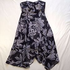 White House Black Market Strapless Floral Chiffon Dress Women's sz 2