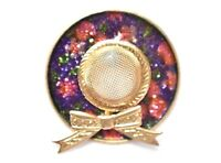 Vintage Hat Statement Brooch Figural Coat Sweater Pin Retro Costume Jewelry 1.5""