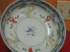 "Chinese Bowl 7.5"" Famille Verte peach poss Late Ming / Qing Export ware Edo"