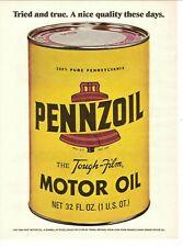 1973 Pennzoil Motor Oil Vintage Magazine Ad