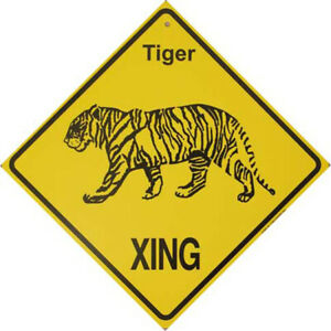 Tiger Crossing Sign: 'Tiger XING'. Sale Priced AND Free Shipping