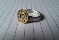Twisted Peace Rustic 7mm REM  Ultra Bullet and Fork ring size 9.5
