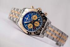 BREITLING Chronomat 44 GMT 18kt/SS Blue Dial CB042012/C858 BNIB Full Warranty
