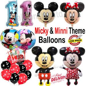 Disney Mickey Mouse Polka Dots Birthday Balloon Foil Latex Birthday Party UK