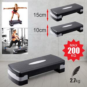 Steppbrett Aerobic Fitness Stepper Heimtrainer Board Bauch Beine Po