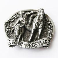 Rodeo Steer Wrestling Western Belt Buckle Gurtelschnalle Boucle de ceinture