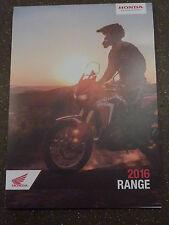 HONDA 2016 Motorcycle Range Poster - NEW! (Trials, Enduro, Motocross,Touring..)