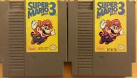 AS IS - 2x LOT NES Nintendo Entertainment System video games Super Mario Bros. 3