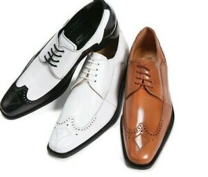 New Men's LibertyZeno Dress Shoes All Leather Wing Tip Oxford Two Tone L-750