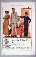 Hart Schaffner & Marx PRINT AD - 1915 ~~ Varsity Fifty Five