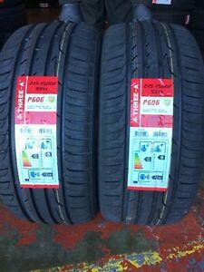 NEW 2 X 245 45 ZR17 99W M+S THREE-A P606 NEW TYRES AMAZING WET GRIP B 2454517