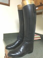 Vintage Equestrian *HENRY MAXWELL* English  Bespoke Leather Riding Boots 8-9