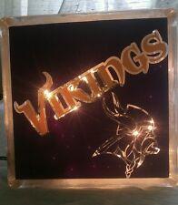 Lighted Minnesota Vikings Glass Block Light~ Home Decor~Gift~Lamp