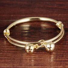 Baby Girl Boy Bangles Bracelet Gold Color Bells Pendant Jewelry Anklet