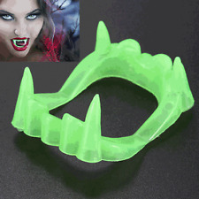 5x Halloween Faux Dents Lumineuses Nuit Cosplay Zombie Vampire Déguisement Neuf