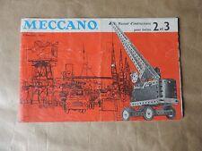 Ancien Manuel D'instructions Pour Boites 2 et 3 Meccano 23/64 1964