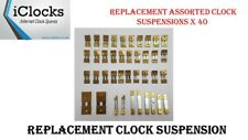 40x Brass Assorted Clock Pendulum Suspension Springs, French,German, UK Seller