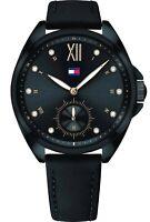 Tommy Hilfiger Women's Damski Black Watch Leather 1781991 $145