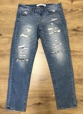 "Abercrombie & Fitch Para Mujer Rasgadas Skinny Jeans Denim Azul Pierna Cintura 32"" 28"""
