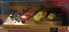 Disney Pixar Die Cast Cars 3-FIREBALL BEACH 4 Pack-escala 1:55 RACE-Nuevo Y En Caja